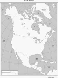 Blank Continents Map by Geography Blog Printable Maps Of North America