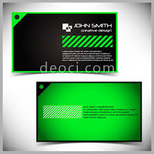 Designing Business Cards In Illustrator Green Simple Striped Style Of Business Card Design Illustrator