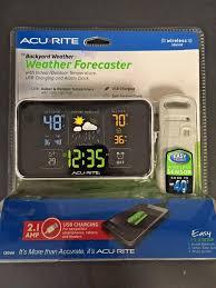 acurite 13044 weather forecaster center alarm clock digital