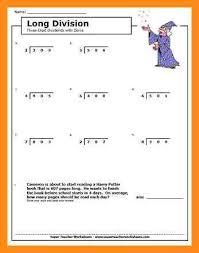 8 4th grade division worksheets lvn resume