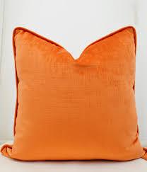 coussins orange en velours orange couverture de coussin orange orange