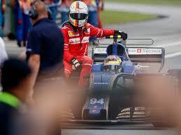 formula 4 crash sebastian vettel at risk of grid penalty after lance stroll crash