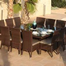 skyline premium lamoni 12 seat square rattan garden dining set