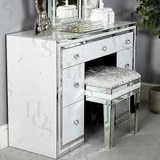 white table with drawers white seattle 7 drawer dressing table house of sparkles