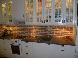 Faux Brick Kitchen Backsplash by Cabinets U0026 Storages Statement Backsplash Remodel Kitchen Idaes