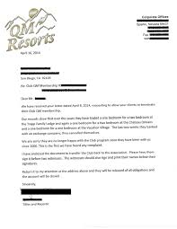 qm resorts cancellation letter resort legal success stories