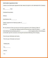 appointment letter sow template