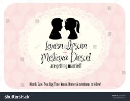 Electronic Wedding Invitation Cards Cameo Wedding Invitation Card Vectorillustration Stock Vector