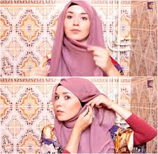 tutorial hijab nabiilabee tutorial hijab dengan kerudung paris ala nabiilabee hijabers asal