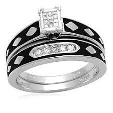 black diamond bridal set black diamond bridal set