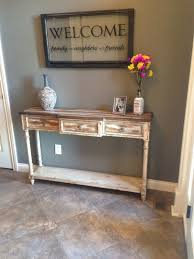 Hall Table Decor Table Narrow Hallway Console Tall With Regard To Popular Home