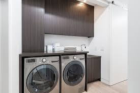 modern barn doors laundry room contemporary with sliding door