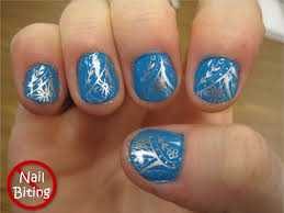 darling nails blue and silver