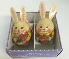 paper mache easter bunny happy easter bunny rabbit giftco decoupage paper mache easter egg