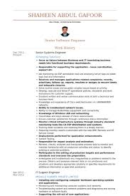 Application Support Engineer Resume Sample by Senior Systems Engineer Resume Samples Visualcv Resume Samples