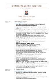 senior systems engineer resume samples visualcv resume samples