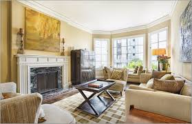 living room with warm color scheme elegant home design