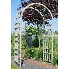 Garden Arch Plans by Dura Trel Cottage 7 75 Ft Vinyl Arch Arbor Mocha Walmart Com