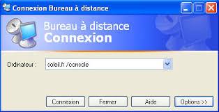 commande bureau a distance administration à distance de windows serveur 2003