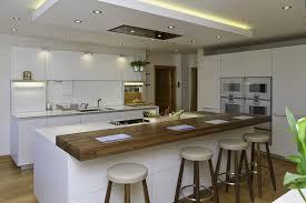 image ilot de cuisine design interieur îlot cuisine coin repas escalier plan bar