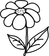 coloriage pour les petits  une grosse fleur  Tête à modeler