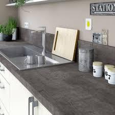 plan de travail cuisine en plan de travail stratifié steel noir mat l 315 x p 65 cm ep 38 mm