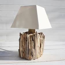 driftwood table lamp buy the sea