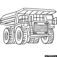 digger coloring pages kids coloring boys trucks