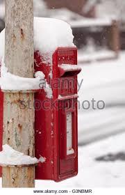 snowy post box stock photos snowy post box stock images alamy