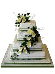 filigree and calla lily wedding cake cccakes