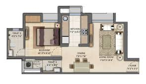 1bhk floor plan 1 bhk 720 sq ft apartment for sale in lodha amara at rs 8000 0 sq