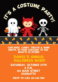 halloween costume party invitations which various color