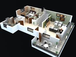 Two Bedroom House Floor Plans Interesting 50 Simple House Floor Plans 3d Design Inspiration Of