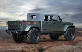 military jeep willys for sale jeep will test pickup concepts at moab 50th sae international