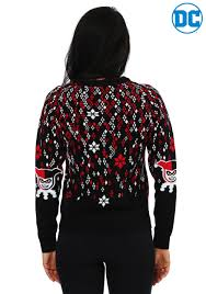 harley quinn diamond womens ugly christmas sweater