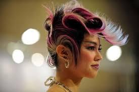 hongkong short hair style hong kong hairstyle with pink high lights