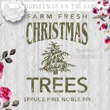 vintage christmas tree farm digital stencil rustic svg file