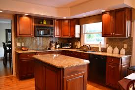 Kitchen Ideas With Maple Cabinets Wall Color Brown With Cherry - Cherry cabinet kitchen designs