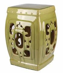 furniture olive ceramic garden stool for outdoor furniture ideas