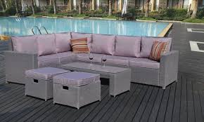 Outdoor Rattan Corner Sofa Rattan Sofa Set Groupon