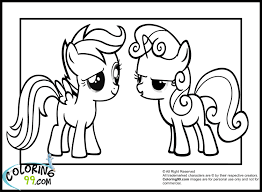 mlp scootaloo and sweetie belle coloring pages jpg 1500 1100