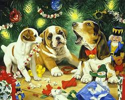 dogs puppies picken painted puppy presents
