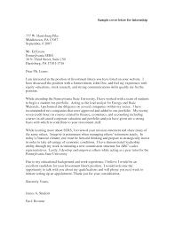 cover letter cover letter sample for internship great sample cover