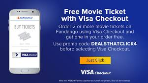 free movie ticket at fandango with visa checkout danny the deal guru
