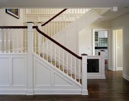 Staircase Banister Arts And Crafts Staircase Handrail Staircase Traditional With Wood