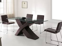 Glass Dining Table And Chairs Kitchen Chairs Elegant Square Tempered Glass Dining Table