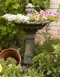 Flower Pot Bird Bath - 130 best birdbath images on pinterest bird baths cast stone and