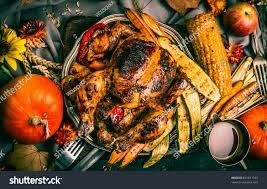 roasted stuffed whole turkey chicken organic stock photo 661811323