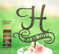 h cake topper h cake topper letter rustic monogram and like this item minion