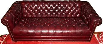 Chesterfield Sofa Price by Burgundy Tufted Leather Chesterfield Sofa L 77